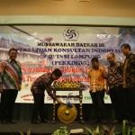 Membuka Acara Musda III Persatuan Konsultan Perkindo DPD Provinsi Lampung Tahun 2017