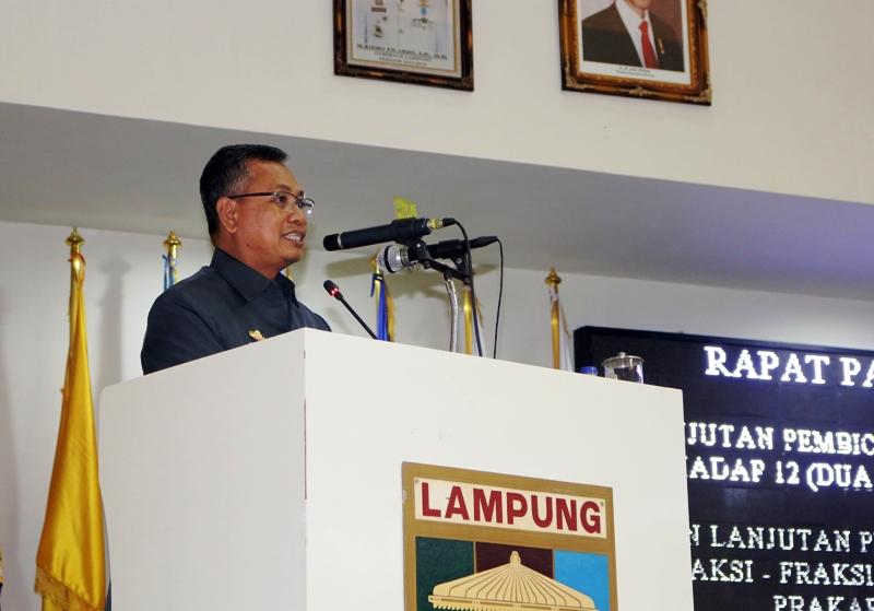 Sekda Provinsi Lampung Sutono.