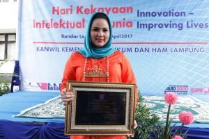 Ketua Dekranasda Provinsi Lampung Aprilani Yustin Ridho Ficardo.