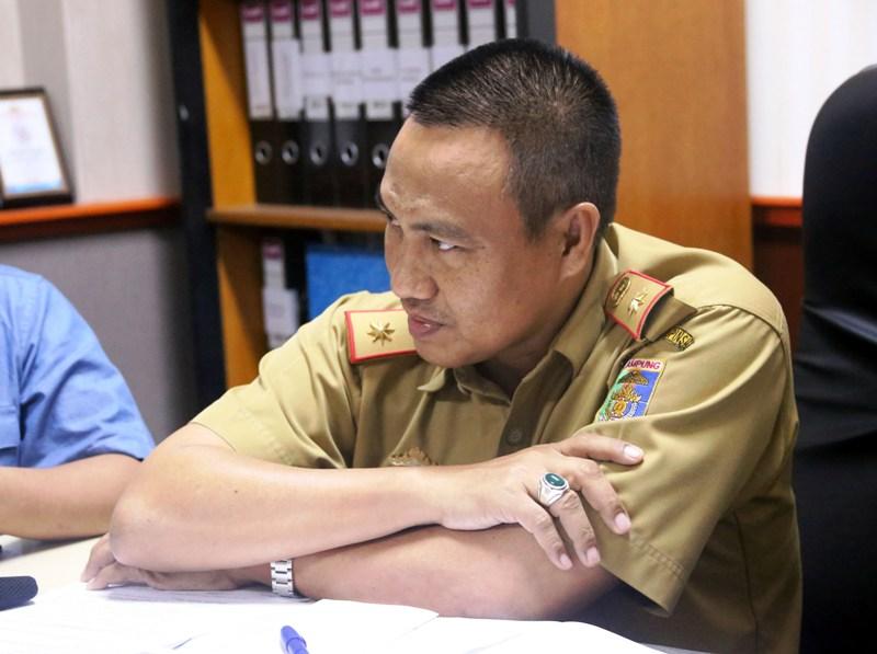 Kepala Biro Administrasi Pembangunan Zainal Abidin.