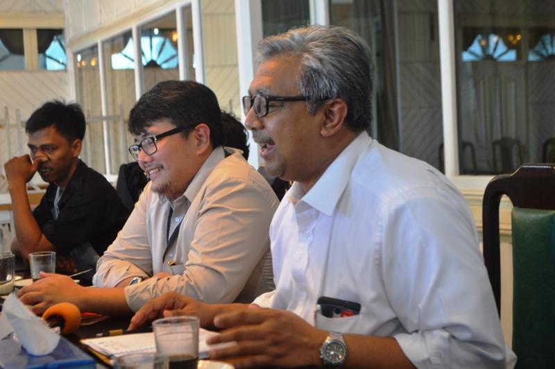 Kepala Kantor Perwakilan BI Provinsi Lampung Dikatakan Arief Hartawan (kanan). Foto : Robert