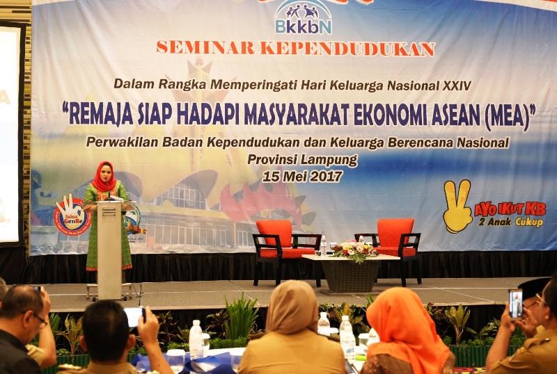 Ketua Tim Penggerak PKK Provinsi Lampung Aprilani Yustin Ficardo.