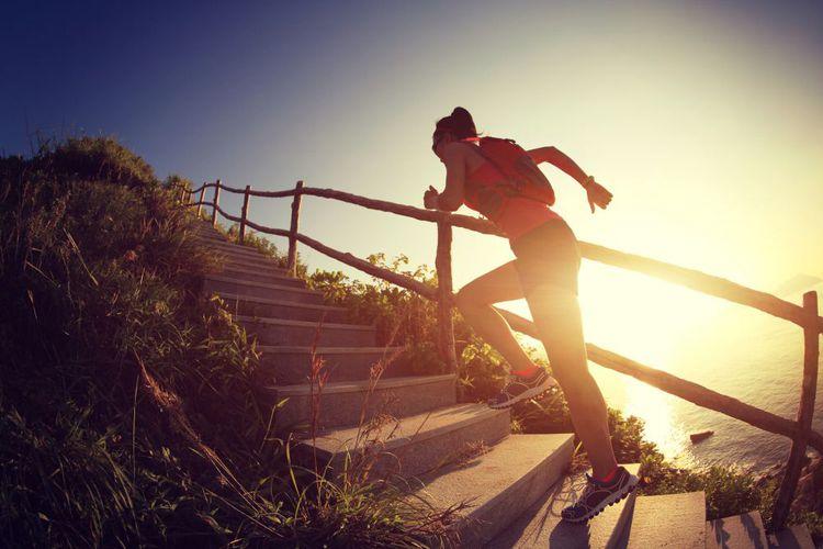 Lari di jalur menanjak memerlukan usaha lebih keras (lzf)