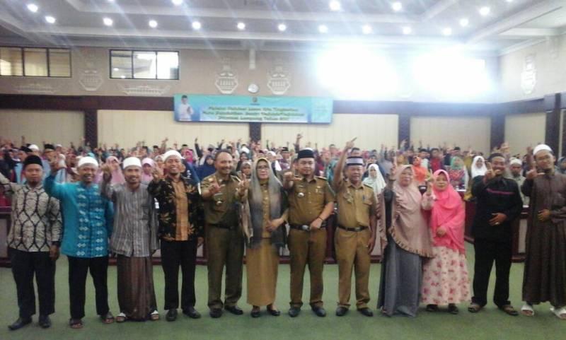 Kegiatan Validasi Hafidzh dan Hafidzah yang diikuti oleh sekitar 600 peserta santriwan dan santri wati dari seluruh Provinsi Lampung di Gedung Pusiban Kantor Gubernur Lampung Selasa 23 Mei 2017.