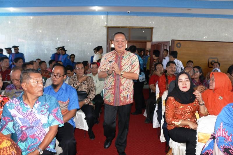 Wakil Gubernur Lampung Bachtiar Basri di Hotel Nusantara, Bandar Lampung, Kamis 04 Mei 2017.