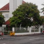 Pedagang Gereja Kota Baru Tak Berjualan Siang Hari