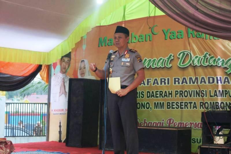 Kapolda Lampung Irjen (Pol) Sudjarno.