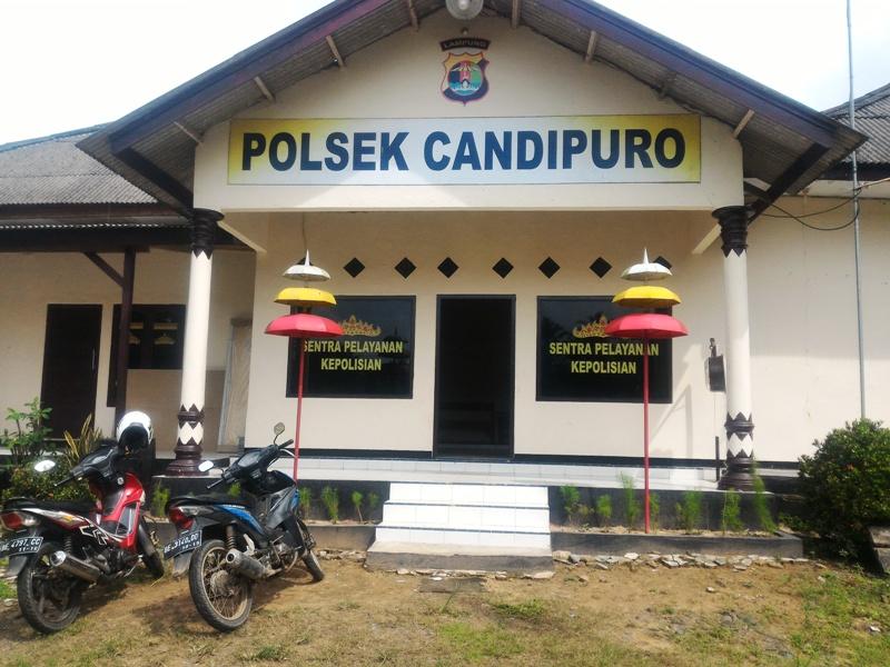 Polsek Candipuro, Lampung Selatan. Foto : Robert