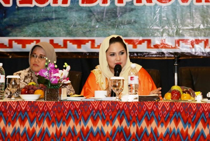 Ketua TP PKK Povinsi Lampung Aprilani Yustin Ridho Ficardo.