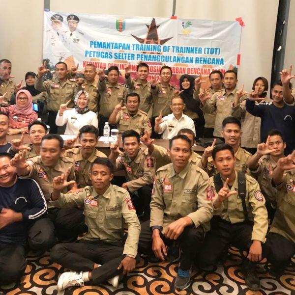 Kegiatan Pemantapan Kemampuan Shelter bagi 50 orang Tagana di Novotel, Bandar Lampung, Rabu 26 Juli 2017