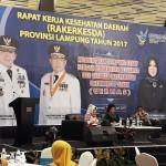 Menteri Kesehatan Nila Djuwita Anfasa Moeloek Apresiasi Pemprov Lampung karena berhasil turunkan angka kasus gizi buruk