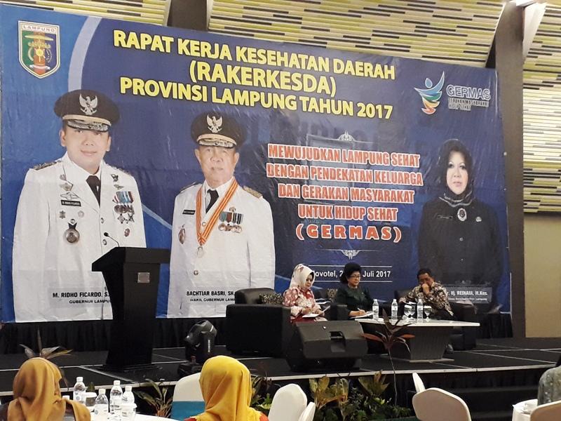 rangka Rapat Kerja Kesehatan Daerah Provinsi Lampung 2017, di Novotel Bandar Lampung, Sabtu 29 Juli 2017