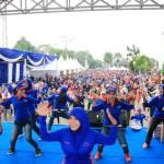 Peringati Hari Hepatitis Sedunia, Ribuan Masyarakat Bandar Lampung Lakukan Senam Germas