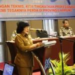 50 Anggota Satpol PP Ikuti Bimtek Penegakkan Perda Provinsi Lampung Tahun 2017