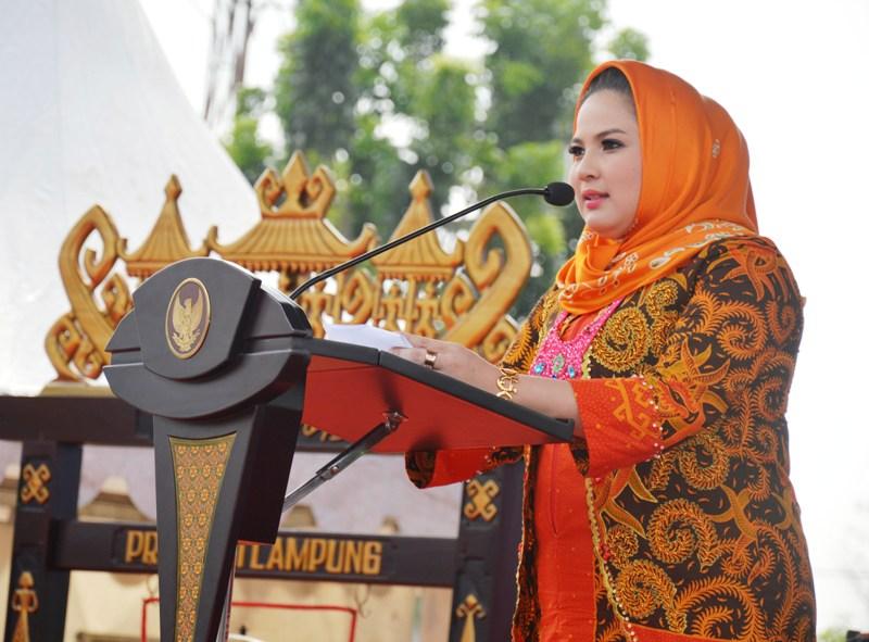 Ketua Tim Penggerak PKK Provinsi Lampung, Aprilani Yustin Ficardo