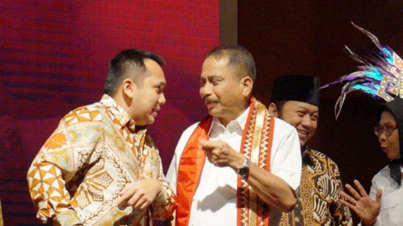 Menpar Arief Yahya bersama Gubernur Lampung M. Ridho Ficardo saat me-lauching Lampung Krakatau Festival 2017 di Balairung Soesilo Soedarman, Gedung Sapta Pesona Jakarta, Senin 7 Agustus 2017