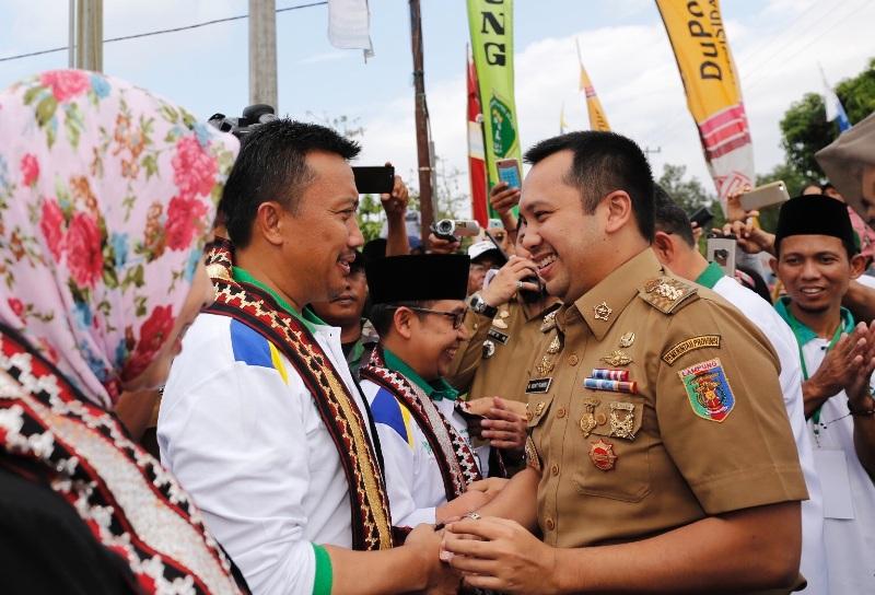 Gubernur Lampung M. Ridho Ficardo Menteri Pemuda dan Olahraga (Menpora) Imam Nahrawi