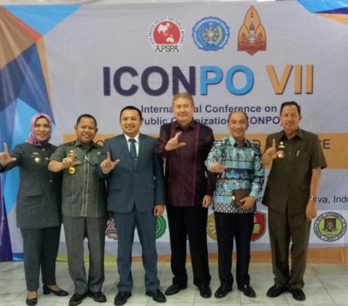 Gubenur Lampung M. Ridho Ficardo di Kampus IPDN, Sumedang, Rabu 23 Agustus 2017
