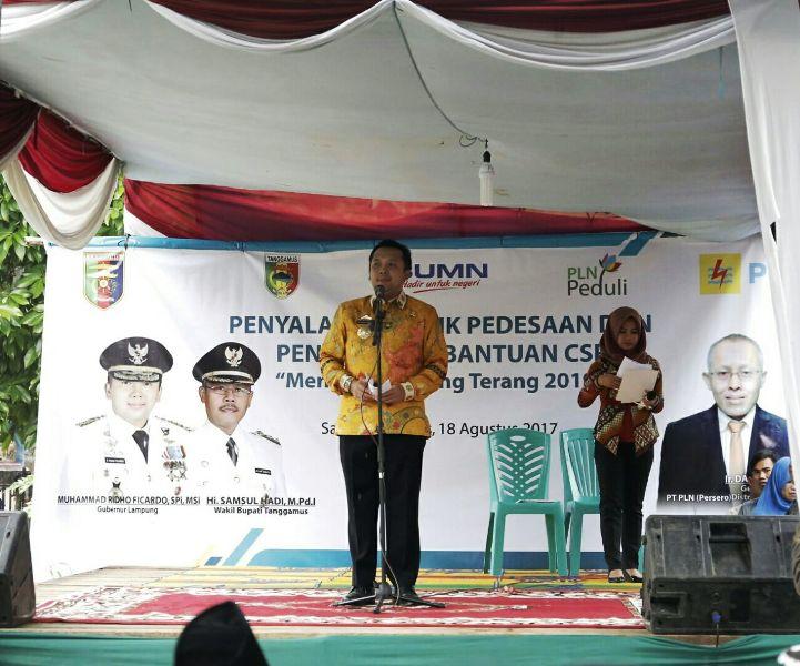 Gubernur Lampung M. Ridho Ficardo di Desa Sampang Turus, Kecamatan Wonosobo Kabupaten Tanggamus