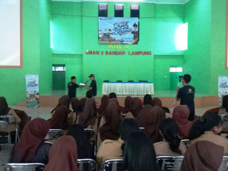 Acara Edukasi Pajak Bertutur di SMAN 2 Bandar Lampung, Jumat 11 Agustus 2017