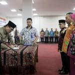 Gubernur Lampung Ridho Ficardo Lantik 220 Pejabat dan Kepala SMA