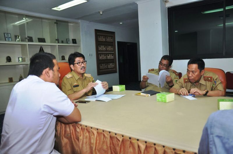 Rapat persiapan pembentukan KAD di Ruang Sakai Sambayan, Pemprov Lampung, Selasa 26 September 2017.