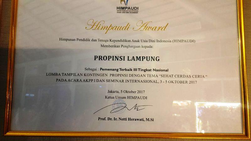 Piagam Himpaudi Award
