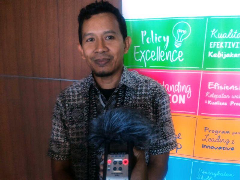 Kepala Tim Pengembangan Ekonomi Bank Indonesia Perwakilan Lampung Indrayana Judana di Bandar Lampung, Senin 16 Oktober 2017.