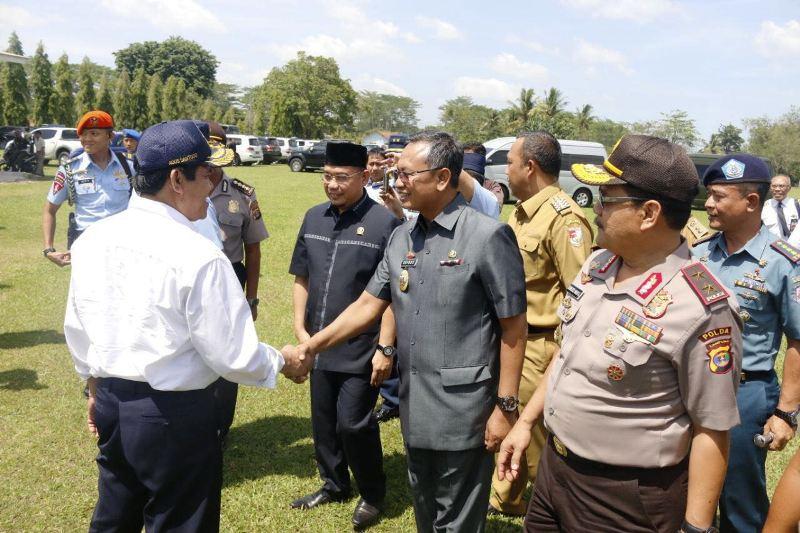Kepala Staf TNI Angkatan Udara (KSAU) Marsekal Hadi Tjahjanto, di Lanud M. Bun Yamin, Menggala, Tulangbawang, Selasa 24 Oktober 2017.