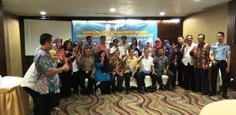 Kegiatan Koordinasi, Integrasi dan Sinergi Program Indonesia Bebas Anak Bermasalah Hukum dari Lapas Dewasa 2018 di Emersia Hotel, Bandar Lampung, Rabu 4 Oktober 2017.