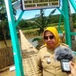 Hari ini Kamabida Kwarda Gerakan Pramuka Lampung Resmikan Jembatan Gantung di Pringsewu