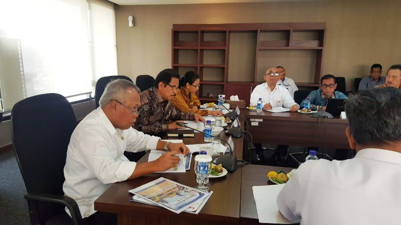 Rapat koordinasi JTTS  di Kementerian Badan Usaha Milik Negara (BUMN) Jakarta, Rabu 11 Oktober 2017.