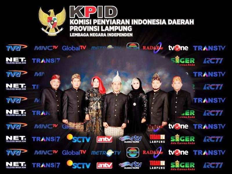 backdrop event KPID Lampung Award 2017.