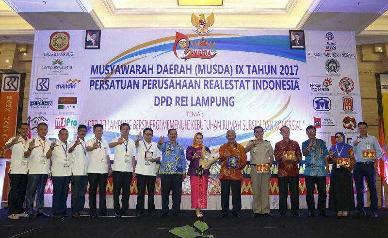 Musyawarah Daerah (MUSDA) IX Real Estat Indonesia (REI) 2017 di Ballroom Hotel Swiss Belhotel, Kamis 16 November 2017.