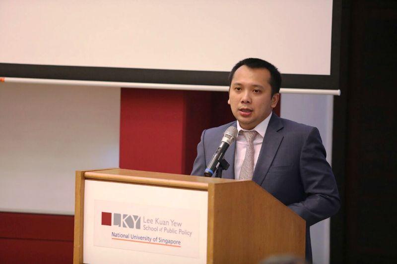 Gubernur Lampung Muhammad Ridho Ficardo , di Manasseh Meyer Building, Lee Kuan Yew School of Public Policy, Bukit Timah, Singapura, Jumat 24 November 2017.