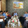 Sekretaris Daerah Provinsi Lampung, Sutono pada acara audiensi dalam rangka FGD tingkat Provinsi penelitian KPJU unggulan UMKM Provinsi Lampung, di ruang kerja sekretaris Provinsi Lampung, Jumat 17 November 2017.