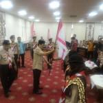 Kak Hamartoni Ahadis Melepas Kontingen Daerah Lampung yang akan mengikuti Jambore ASEAN VI