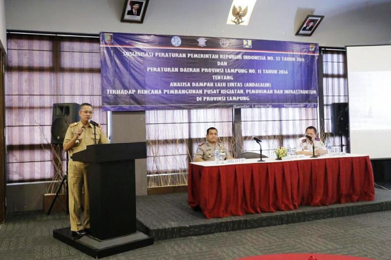 Sekretaris Daerah Provinsi Lampung Sutono, di Hotel Grand Anugerah Bandar Lampung, Selasa 21 November 2017.