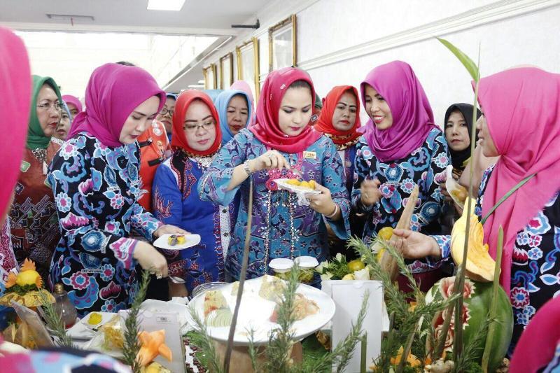 Aprilia Yustin Ficardo pada acara Diseminiasi dan Rapat koordnasi Forikan Provinsi Lampung di Balai Keratun, Rabu 1 November 2017.
