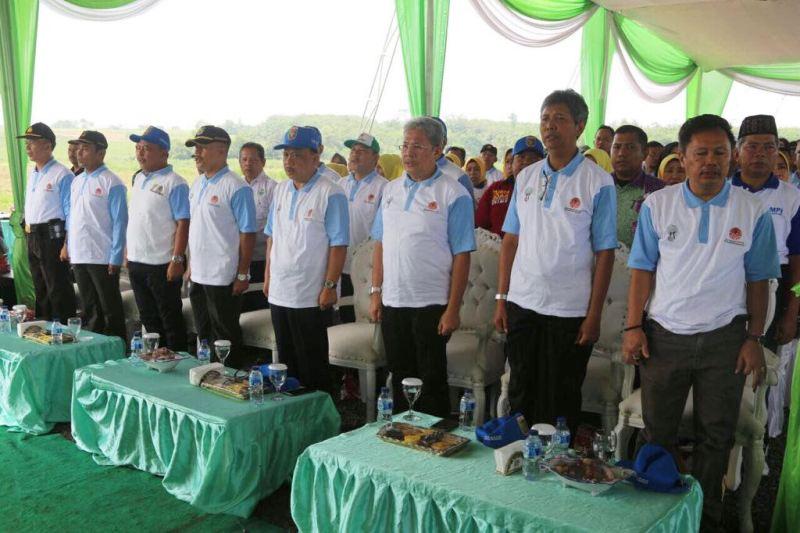 Acara  Peringatan HMPI dan BMN Provinsi Lampung Tahun 2017 di Bumi Perkemahan Pramuka Kotabaru, Desa Purwotani, Jati Agung, Lampung Selatan, Kamis 14 Desember 2017.