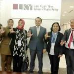 Soliditas badan/dinas/instansi tampak pada saat gubernur akan memaparkan potensi Lampung di National Universitas of Singapura baru baru ini