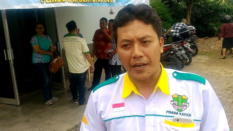 Ketua Pemuda Katolik Komda Lampung Marcus Budi Santoso.