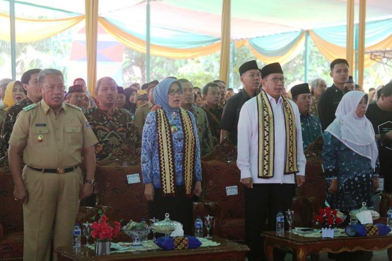 Menag Lukman pada acara peresmian Kampus 1 IAIN Metro dan Gedung Fakultas Syariah oleh Menteri Agama RI, Lukman Hakim Saifuddin, Selasa 19 Desember 2017.