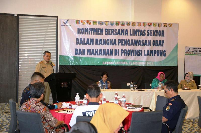 Sekretaris Daerah Provinsi, Sutono, di Hotel Novotel, Bandar Lampung, Selasa 5 Desember 2017.