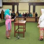 Ibu Yustin Lantik Partinia Parosil Pimpin PKK, Dekranasda dan PAUD Lambar