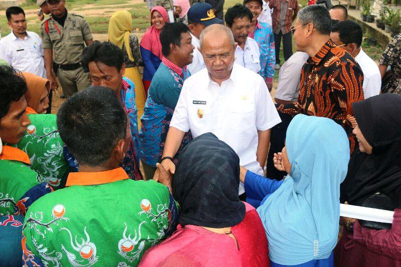 Wakil Gubernur Bachtiar Basri saat berkunjung di Kabupaten Mesuji, Rabu 24 Januari 2018.