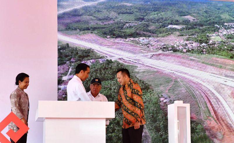 Presiden Joko Widodo di Itera, Minggu 22 Januari 2018.