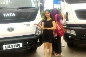 """Tata Motors Distribusi Indonesia (TMDI) saat mengenalkan produk unggulannya pada Tata Truck Media Workshop"""" ketiga tahun 2018 di Lampung, di Swissbel Hotel, Rabu 17 Januari 2018."""