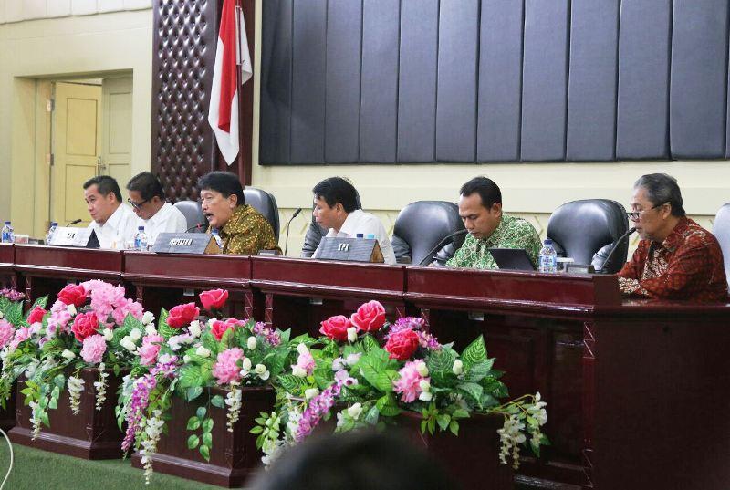 Acara pendampingan pencegahan korupsi di Gedung Pusiban, Kantor Gubernur Lampung, Rabu, 28 Februari 2018.