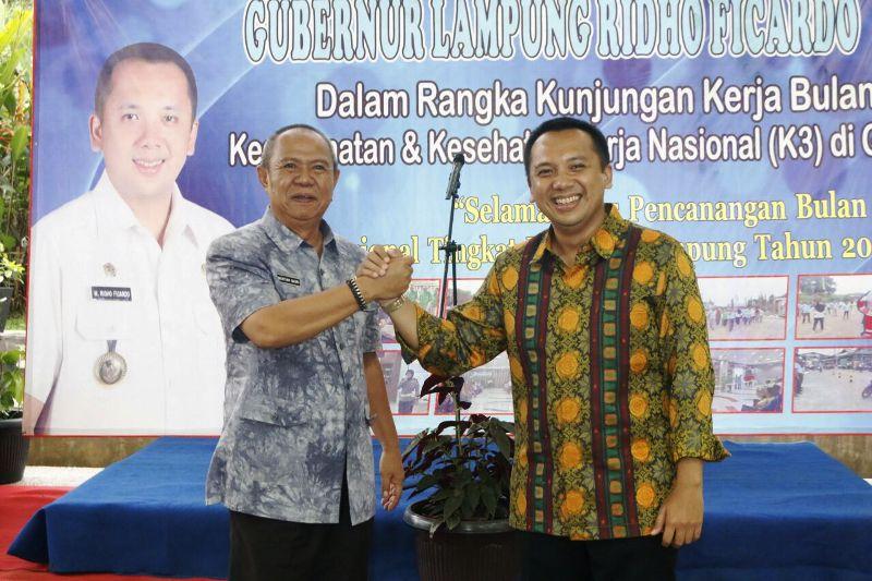 Gubernur Lampung Muhammad Ridho Ficardo dan Wakil Gubernur Lampung Bachtiar Basri.